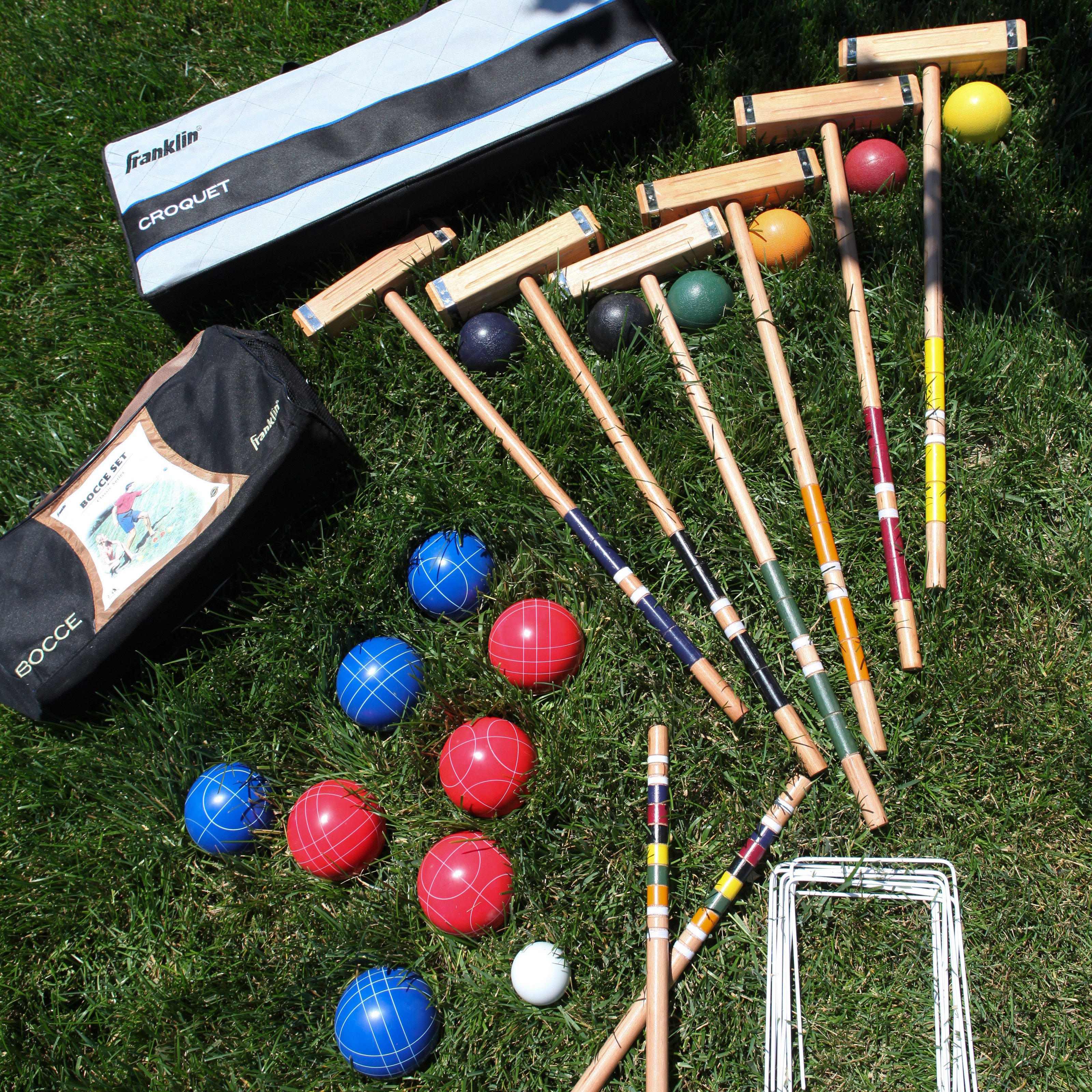 Franklin Combination 107mm Bocce Ball and Croquet Set