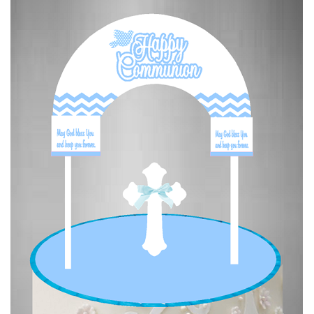 Cake / Food / Cupcake / Desert Decoration Banner Decorating Topper Kit Communion Blue](Communion Banners)