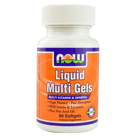 - NOW Foods Liquid Multi Gels Softgels, 60 Ct