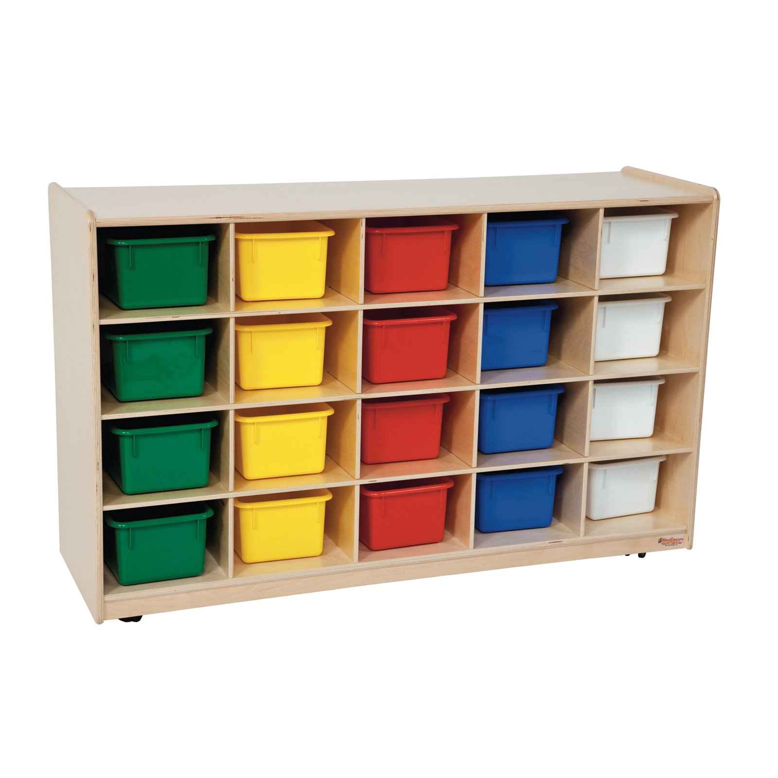 Wood Designs Natural 20 Tray Storage with Trays