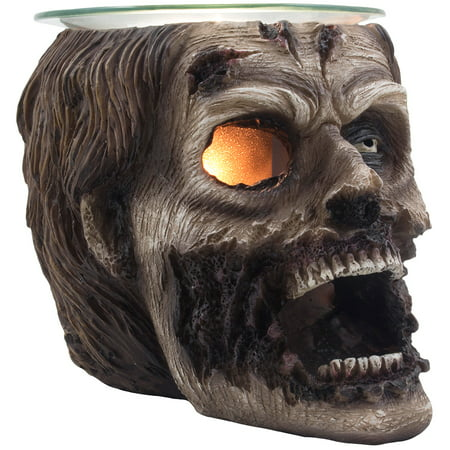- Evil Undead Zombie Head Electric Oil Warmer Uses Scented Oils or Wax Tarts for Walking Dead or Halloween Decorations & Gothic Decor by Home 'n Gifts