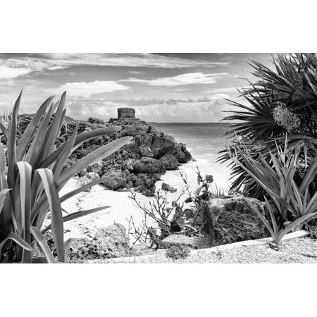 ¡Viva Mexico! B&W Collection - Tulum Riviera Maya IX Print Wall Art By Philippe Hugonnard