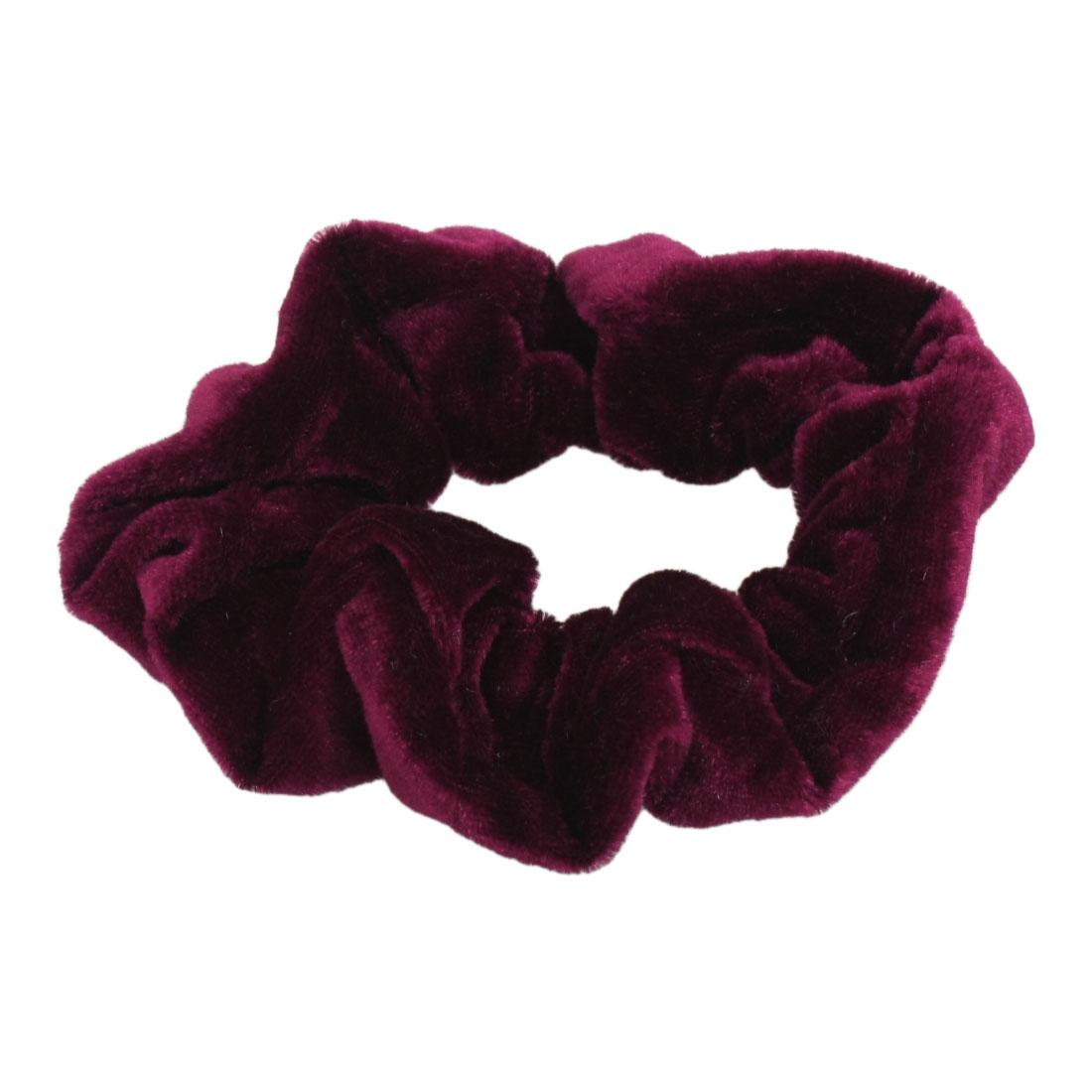 Women Elastic Velvet Hair Tie Band Ponytail Braid Holder Burgundy
