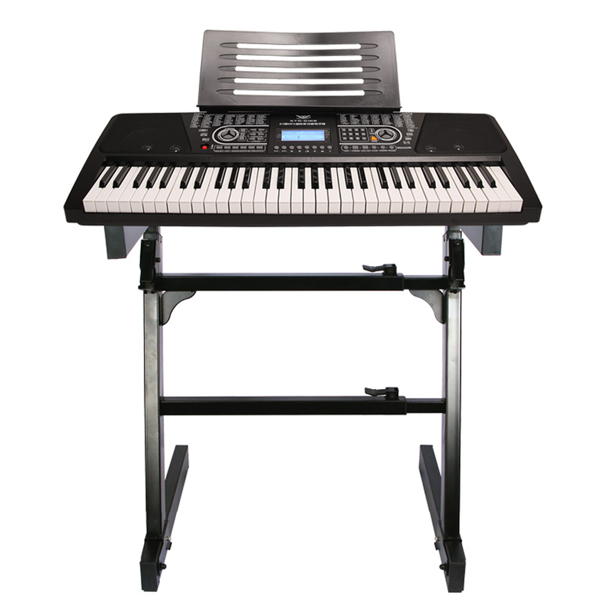 MECO  Adjustable Z-Type DJ Mixer Coffin Keyboard Piano Organ Heavy Duty Z Stand (Keyboard Piano Is Not Included)