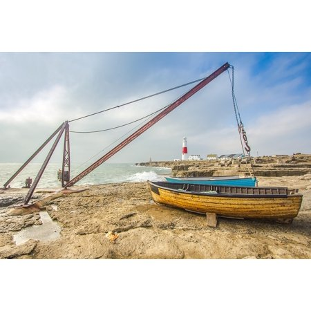 - Canvas Print Coast Lighthouse Fishing Boats Portland Ocean Stretched Canvas 10 x 14