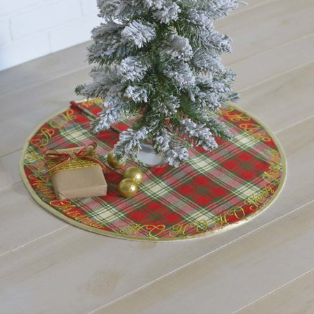 Cherry Red Farmhouse Christmas Decor HO HO Holiday Felt Embroidered Plaid 21