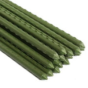Ecostake Garden Plant Stakes Post for Tomatoes, Trees, Cucumber, Fences, Beans, Plastic Coated Steel Tube Stakes, 20 Pack (5 Ft)