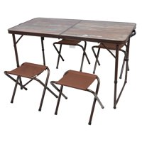 Deals on Ozark Trail Folding Table Set W/ Chairs