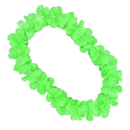 Hawaiian Flower Lei Necklace Green Hawaiian Flower Necklace