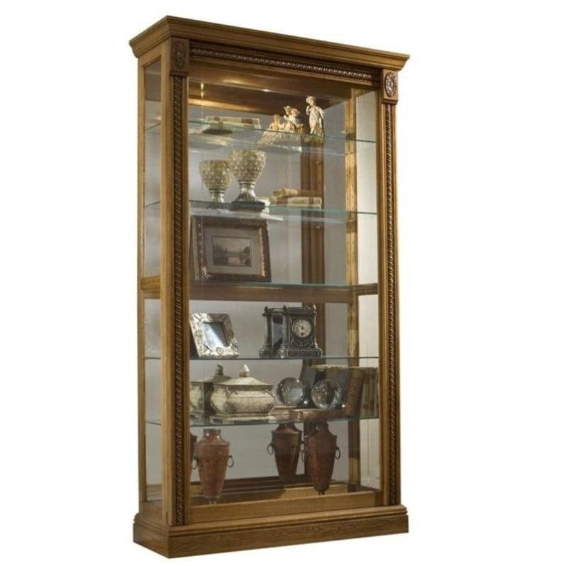 Pulaski Estate Oak Curio Cabinet