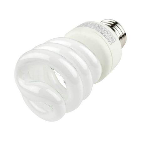 Spiral Pl Compact - TCP 80101450 14-Watt SpringLight Compact Fluorescent Spiral Light Bulb, 50K Color Temperature