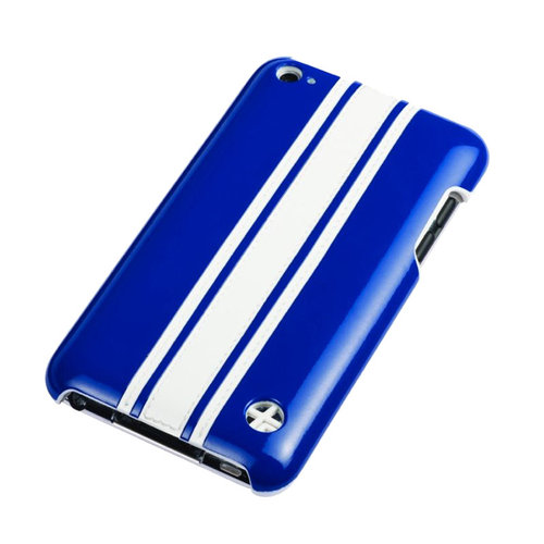 Trextra Racing Stripe Case for iPod touch, Blue