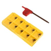 10Pcs 11IR A60 Carbide Inserts with Wrench for Threading Turning Tool Boring BAR Lathe Tools Cutter