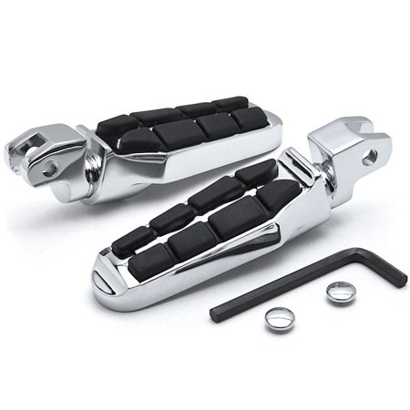 Krator Tombstone Motorcycle Foot Peg Footrests Chrome L&R For Yamaha Virago 1100 All Front - Tombstones For Sale