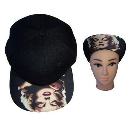 Marilyn Monroe Screen Printed Baseball Caps Hats - Gifts (WomCap58 *) (Monroe Baseball)
