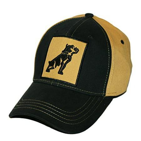 Mack Trucks Mens OSFM Stretch Fit Black & Gold Bulldog Patch Cap](Mack Truck Hats)