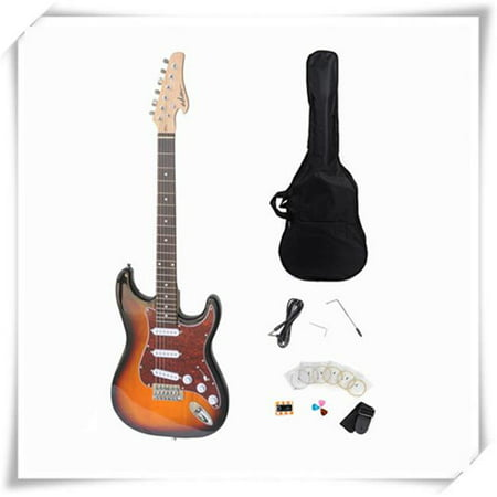 Electric Guitar with Rosewood Fingerboard, Sunburst Gloss 3 Tone Sunburst Rosewood Fingerboard