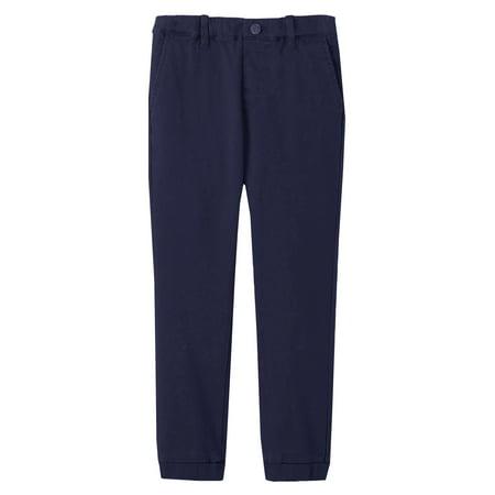 Children & Boys Joggers Casual Twill Pants Dress School Uniform - Sizes 4-20 - Casual Boy Clothing