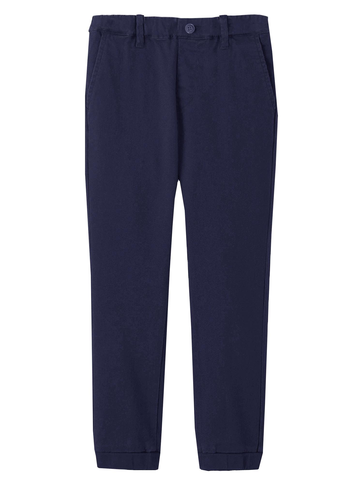 Children & Boys Joggers Casual Twill Pants Dress School Uniform - Sizes 4-20