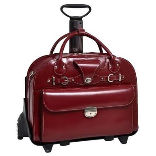 """McKleinUSA Roseville W Series 96646 Ladies' Briefcase - Briefcase - Shoulder Strap, Hand Strap, Handle15.4"""" Screen Support - Leather - Red - McKlein"""