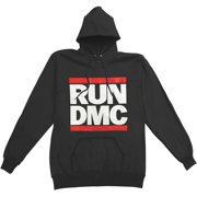 Run DMC Men's  Black Hooded Sweatshirt Black