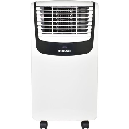 Honeywell MO Series Compact 3-in-1 Portable Air Conditioner with Remote Control for Rooms up to 350 Sq. Ft. in White/Black