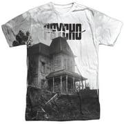 Psycho Men's  Bates House Sublimation T-shirt White