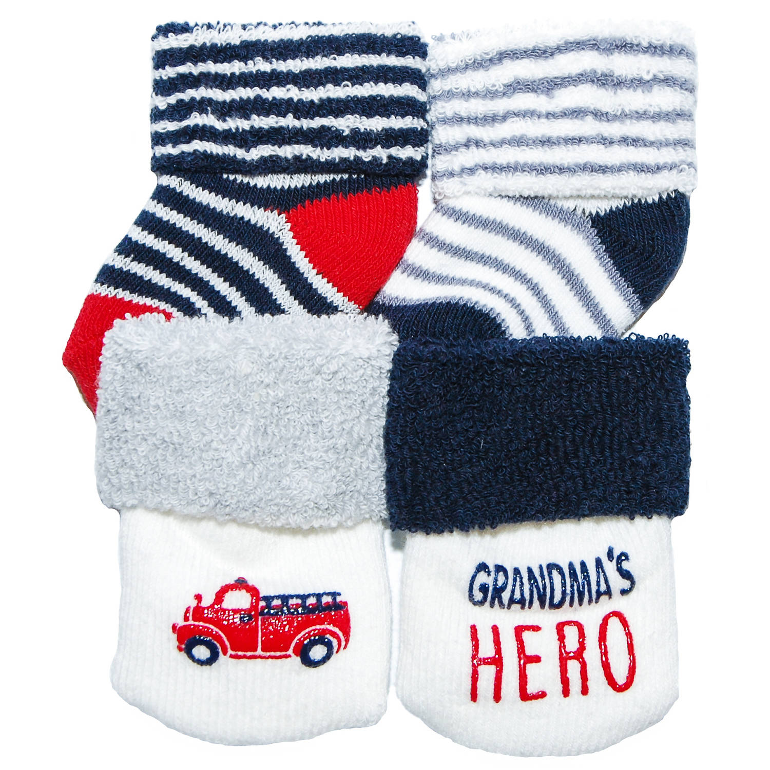 Child of Mine by Carter's Newborn Baby Boy 4-Pack Terry Cuff Socks, 0-3M