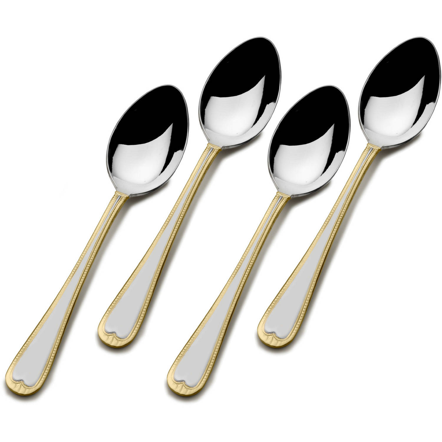 International Silver Gold Accent New Castle Demi Spoons, Set of 4