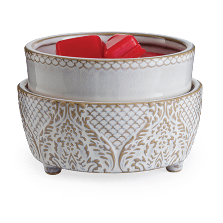 Vintage White 2-In-1 Candle and Fragrance Warmer For Candles And Wax Melts from Candle Warmers Etc. ()
