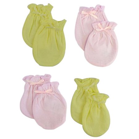 Infant Mittens, Blue - Pack of 4 - image 1 of 1