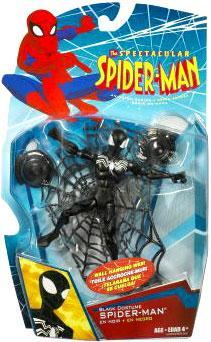 Spider-Charged Black Costume Spider-Man Action Figure by