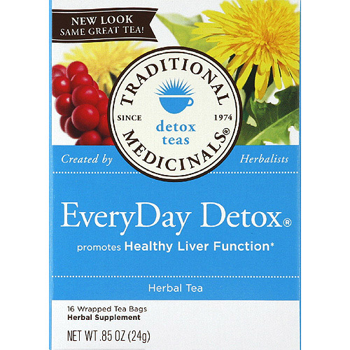 Traditional Medicinals Everday Detox Tea Bags, 16 Ct, 6 Pack