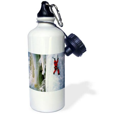 (3dRose USA, Colorado, Ouray. Ice Climbing. (MR) - US06 LKL0002 - Lee Klopfer, Sports Water Bottle, 21oz)