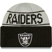 Las Vegas Raiders New Era Reversible Cuffed Knit Hat - Silver/Black - OSFA