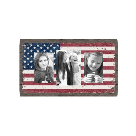 Fetco Home Decor Louisa American Flag Collage Picture Frame ...