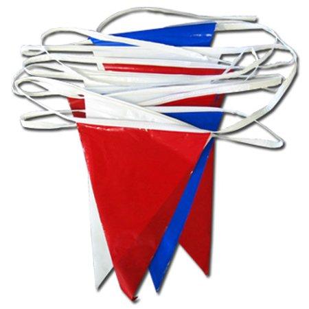 100' Pennant Streamer (Red White Blue) (Unt Flag)