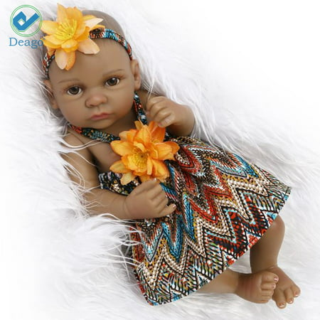 Deago Reborn Newborn Baby Realike Doll Handmade Lifelike Full Silicone Vinyl Weighted Alive Lovely Cute Doll Gifts 10