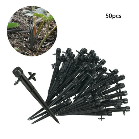 Drip System (50pcs 360 Degree Adjustable Drippers Water Flow Irrigation on Stake Emitter Drip System )