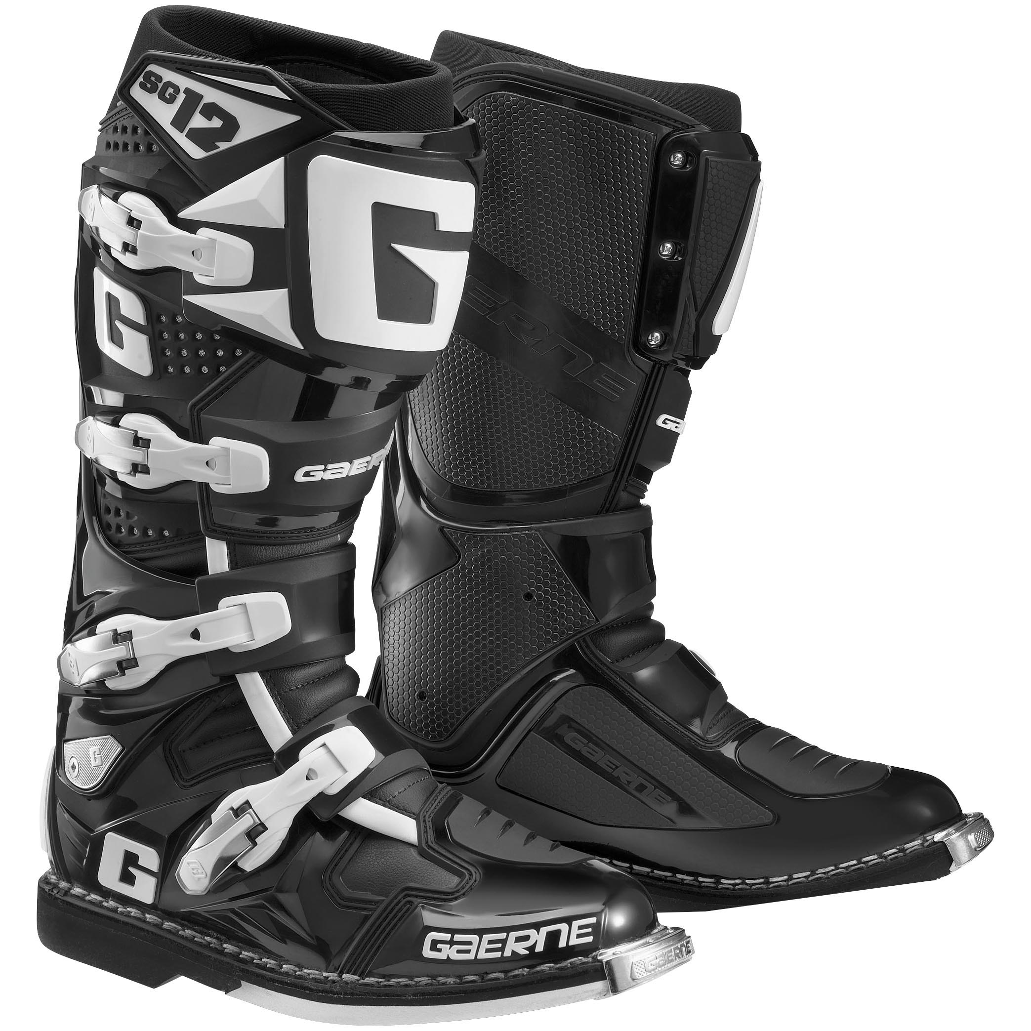 Gaerne SG-12 Mens MX Offroad Boots Black