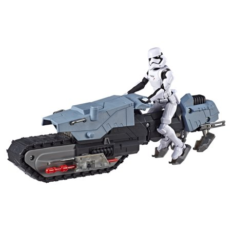 Star Wars Galaxy of Adventures First Order Driver and Treadspeeder Toy Action Figure Set (11.496u0022)