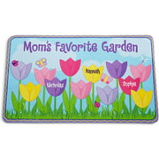 Personalized Tulip Garden Doormat