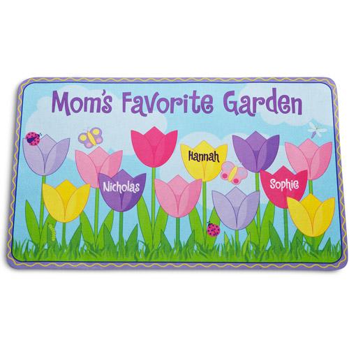 Personalized Tulip Garden Doormat