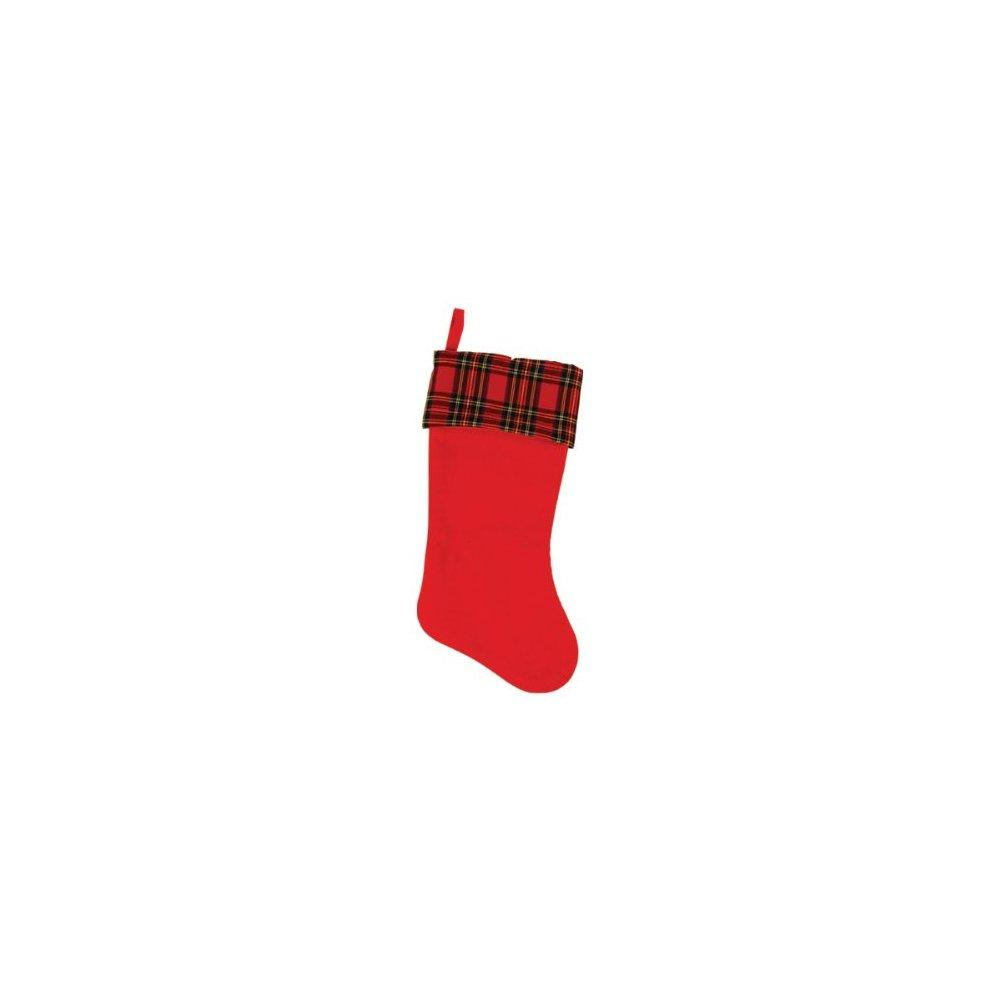 Plaid Felt Christmas Stocking - image 1 de 1