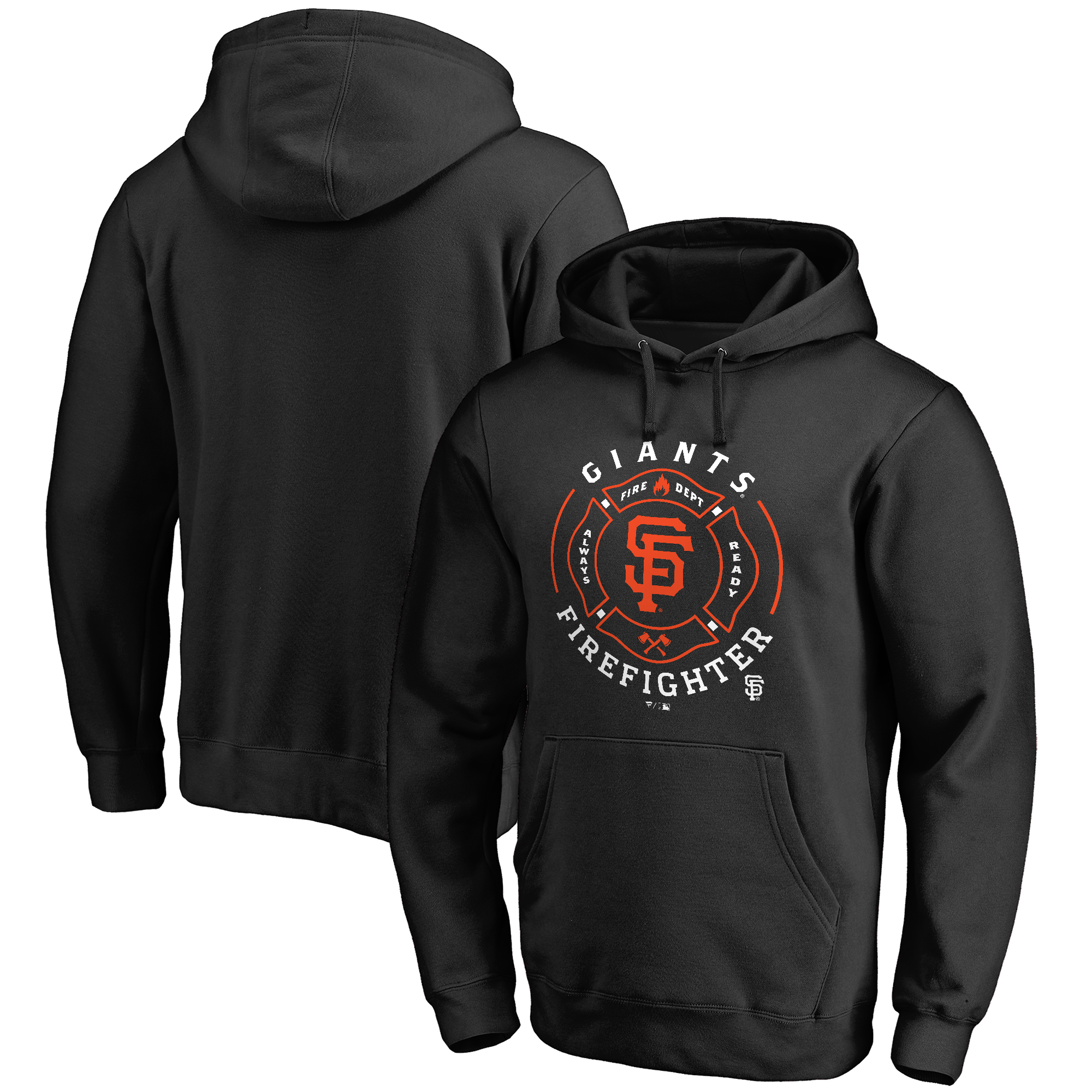San Francisco Giants Firefighter Pullover Hoodie - Black