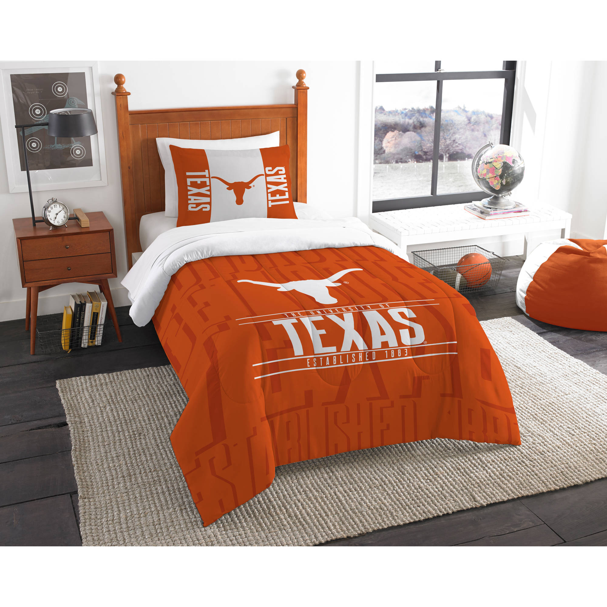 "NCAA Texas Longhorns ""Modern Take"" Bedding Comforter Set"