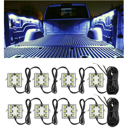 TSV Truck Bed Light Kit with 48 Super Bright Color White LED Waterproof Lighting System for Pickup Truck Unloading Cargo Area