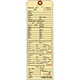 """Alteration Tags, 9-3/8"""" x 3-1/8"""", Manila with Button Slots, Consecutively Numbered - 100 TAGS"""