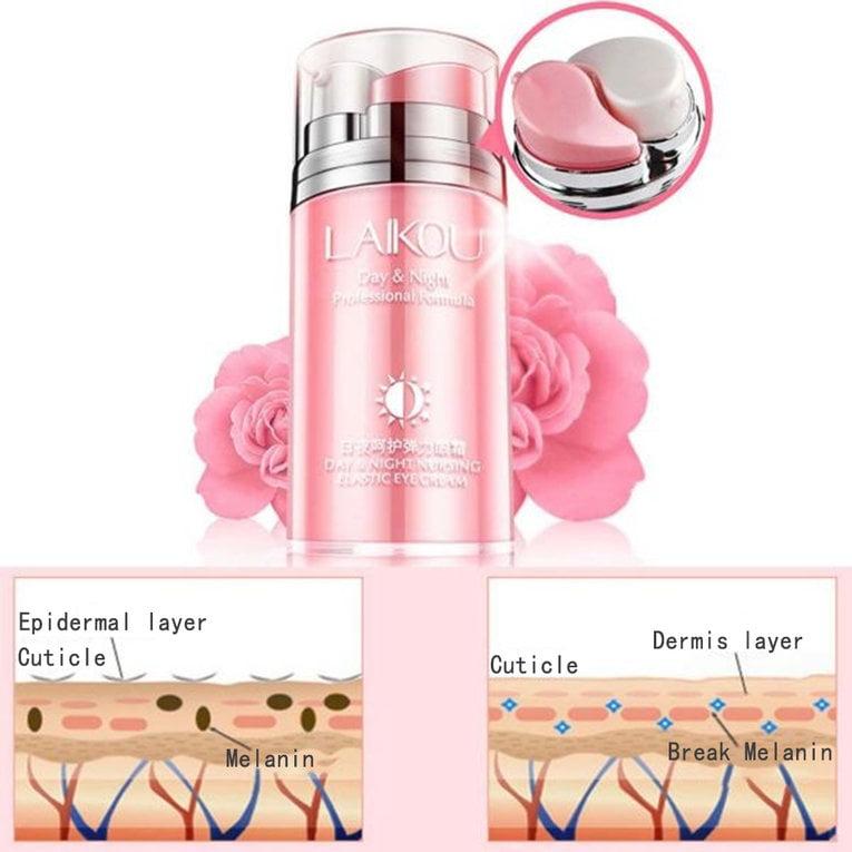Rose Oil Day & Night Nursing Elastic Eye Cream Formula Desalination Wrinkles Cream Professional Drop Shipping Wholesale by YKS