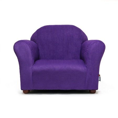 Roundy Childrens Chair Microsuede Charcoal
